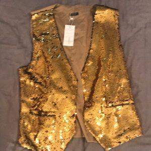 Other - Gold sequin men's party vest.